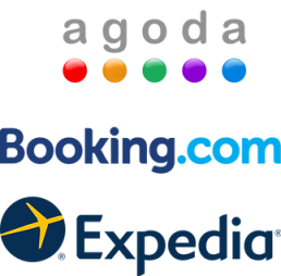 Agoda and Booking online travel agents